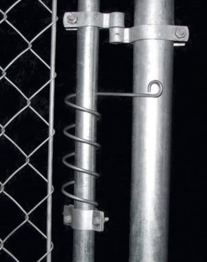Small gate closer for chain link gates